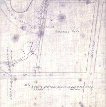 Image of Hampton Park Sketch Showing Proposed Asphalt Roadway - Map