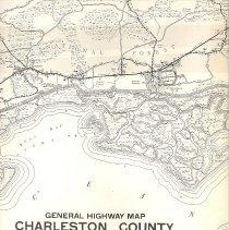 Image of General Highway Map, Charleston County, South Carolina - Map