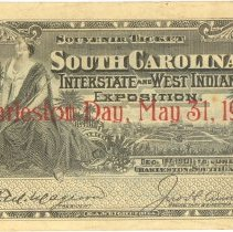 Image of Souvenir Ticket, South Carolina Interstate and West Indian Exposition - Ticket