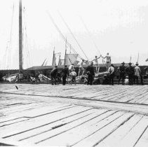 Image of Soldiers at Wharf Swimming - ca. 1898-1912