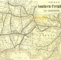 Image of Great Southern Freight Line Via Charleston, S.C. - Map