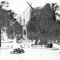 Image of Unitarian Churchyard in Snow - ca. 1898-1912