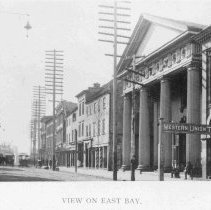 Image of View on East Bay Street - 1893