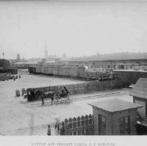 Image of Cotton and Freight Yards, SC Railway - 1893