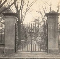 Image of g:  Gate to Randolph Hall