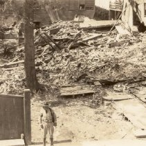 Image of Ruins of 45 State Street After the 1938 Tornadoes - 1938