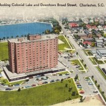 Image of Aerial View Overlooking Colonial Lake and Downtown Broad Street, Charleston, S. C. - ca. 1950