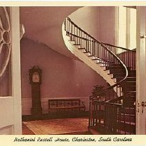 Image of Nathaniel Russell House, Charleston, South Carolina [Stairs] - Undated