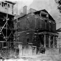 Image of 114 Broad Street After the 1886 Earthquake