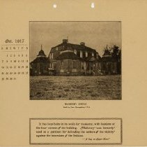 Image of 1917 Calendar - October - Mulberry Castle