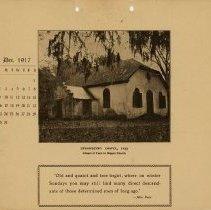 Image of 1917 Calendar - December - Strawberry Chapel