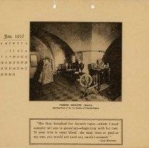 Image of 1917 Calendar - January - Powder Magazine Interior