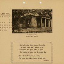 Image of 1917 Calendar - February - Wambaw Church