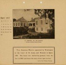 Image of 1917 Calendar - April - El Dorado