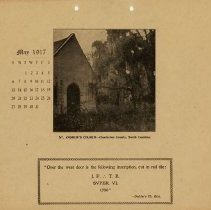 Image of 1917 Calendar - May - St. Andrew's Church