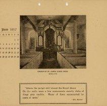 Image of 1917 Calendar - June - Church of St. James Goose Creek