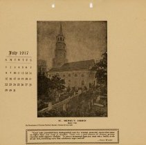 Image of 1917 Calendar - July - St. Michael's Church