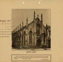 Image of 1917 Calendar - August - Huguenot Church