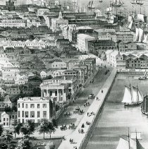Image of Bird's-Eye View of Charleston: High Battery - 1851 (date of original)