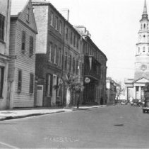 Image of c: Looking North on Church Street, ca. 1940s