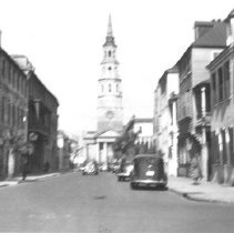 Image of d: Looking North on Church Street, ca. 1940s