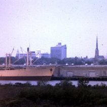 Image of Ship Docked at Port of Charleston - 1970