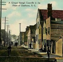 "Image of ""A Glimpse Through Coonville in the Heart of Charleston"" [Beaufain Street, 30-40 Block] - ca. 1910"