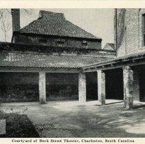 Image of Courtyard of Dock Street Theater, Charleston, South Carolina - 1940s?