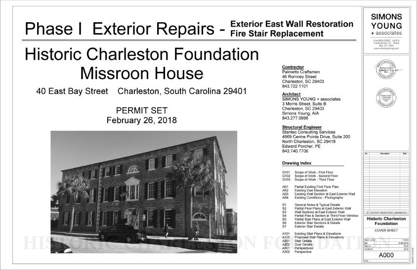 Phase I Exterior Repairs: Exterior East Wall Restoration / Fire