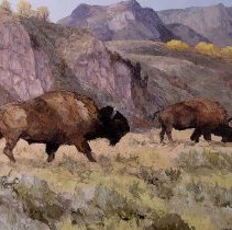 Image of 2003.67.01 - GRAZING BISON