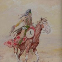 Image of X1968.23.01 - UNTITLED (INDIAN ON HORSEBACK)