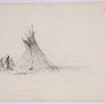 Image of X1968.43.01 n - UNTITLED (tipi with man and horse)