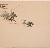 Image of 2015.18.03 - UNTITLED (TWO COWBOYS ROPING A STEER)