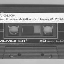 Image of Oral History Tape of Ernestine McMillan Hilton - Rocky Pine Ranch Collection
