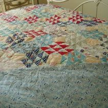 Image of Quilt w backing fabric showing