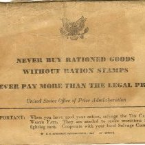 Image of War Ration Book Back