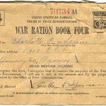 Image of War Ration Book Four - PastPerfect Museum Archival Collection