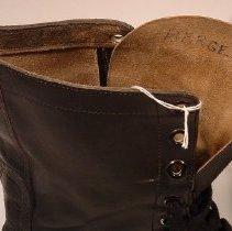 Image of Bergen written inside boot