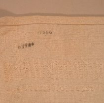 Image of stamps on towel