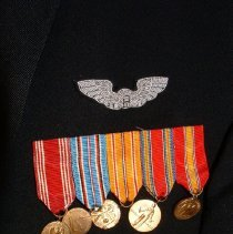 Image of Miniature Medals on Mess Dress