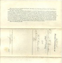 Image of Pension Certificate back