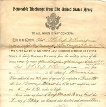 Image of A993.115.001 - Discharge, Military