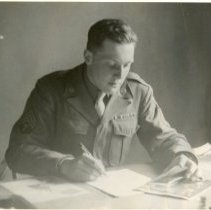 Image of T/4 Harry Ettlinger, Assistant to MFAA Special Officer.