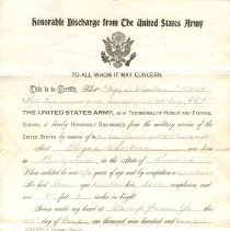 Image of A988.317.001 - Discharge, Military
