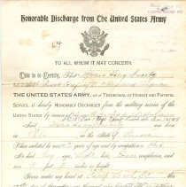 Image of A990.012.001 - Discharge, Military