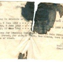 Image of A993.085.008 - Memorandum