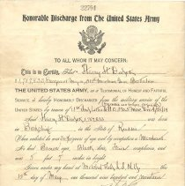 Image of A994.147.004 - Discharge, Military