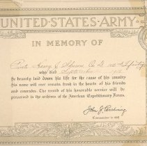 Image of A983.002.002 - Certificate, Commemorative