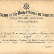 Image of A983.002.003 - Certificate, Commemorative