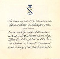 Image of A013.008.001 - Certificate, Commemorative